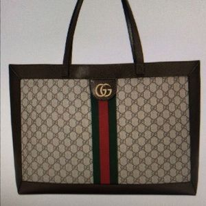 Authentic Gucci Ophidia Soft Supreme Canvas Tote